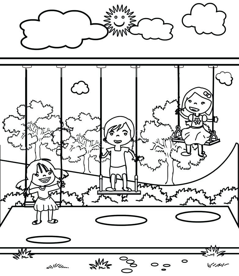 The Best Free Playground Coloring Page Images Download From 50 Free