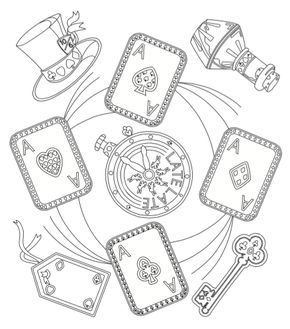 Playing Cards Coloring Pages