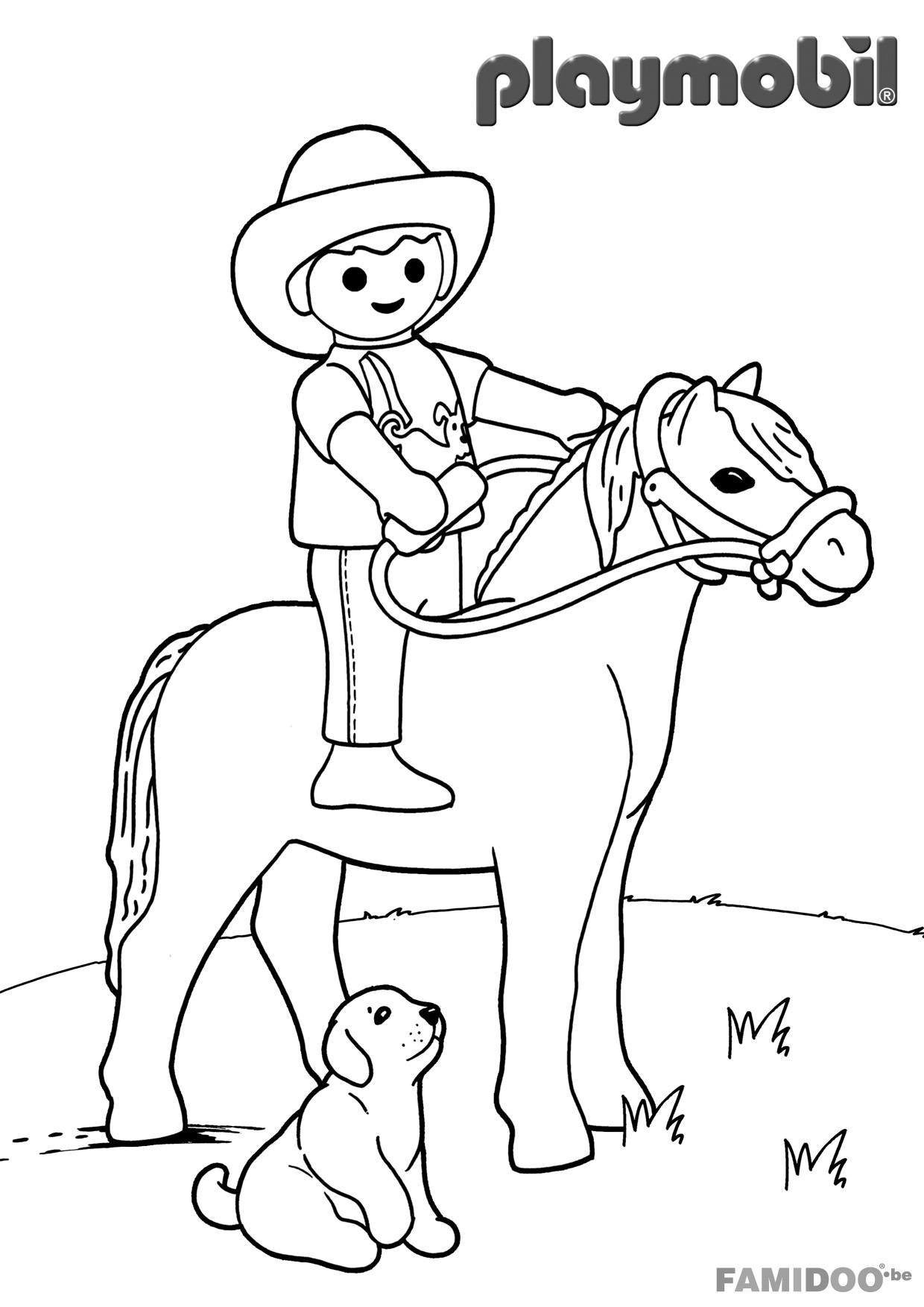 The Best Free Playmobil Coloring Page Images Download From