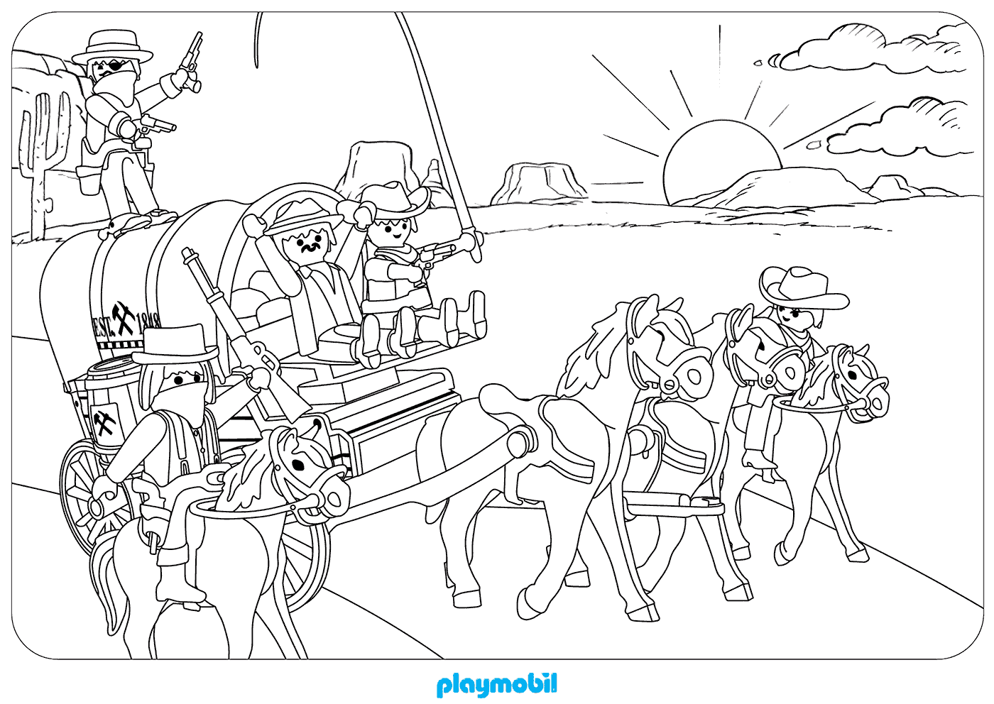 playmobil coloring pages at getdrawings  free download