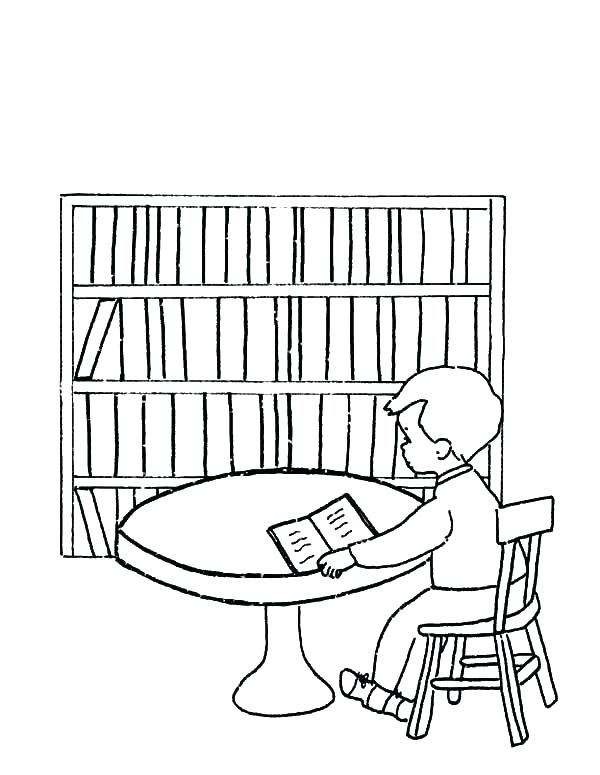 600x775 Library Coloring Pages Epic Library Mouse Coloring Page Free