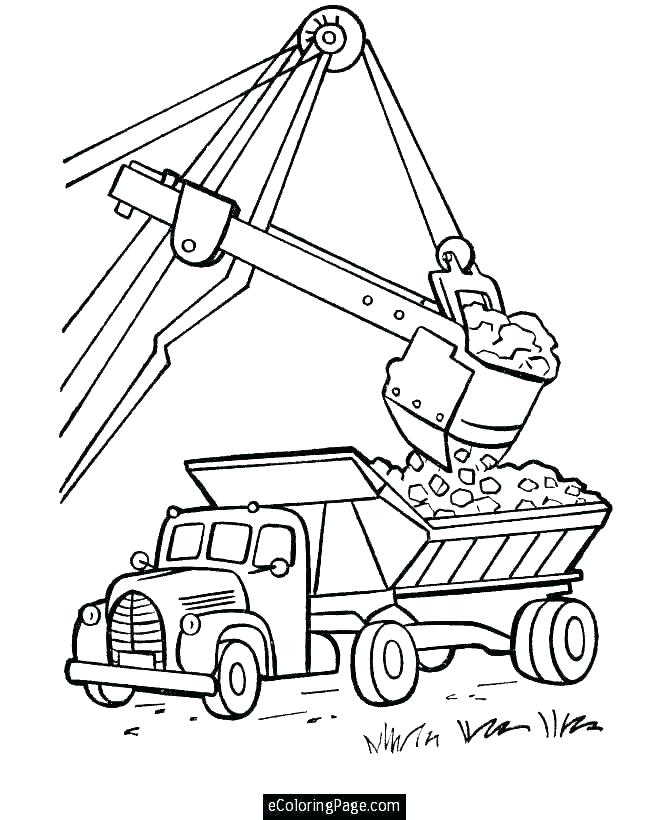 670x820 Dump Truck Coloring Pages Trucks Snow Plow Truck On Dump Truck
