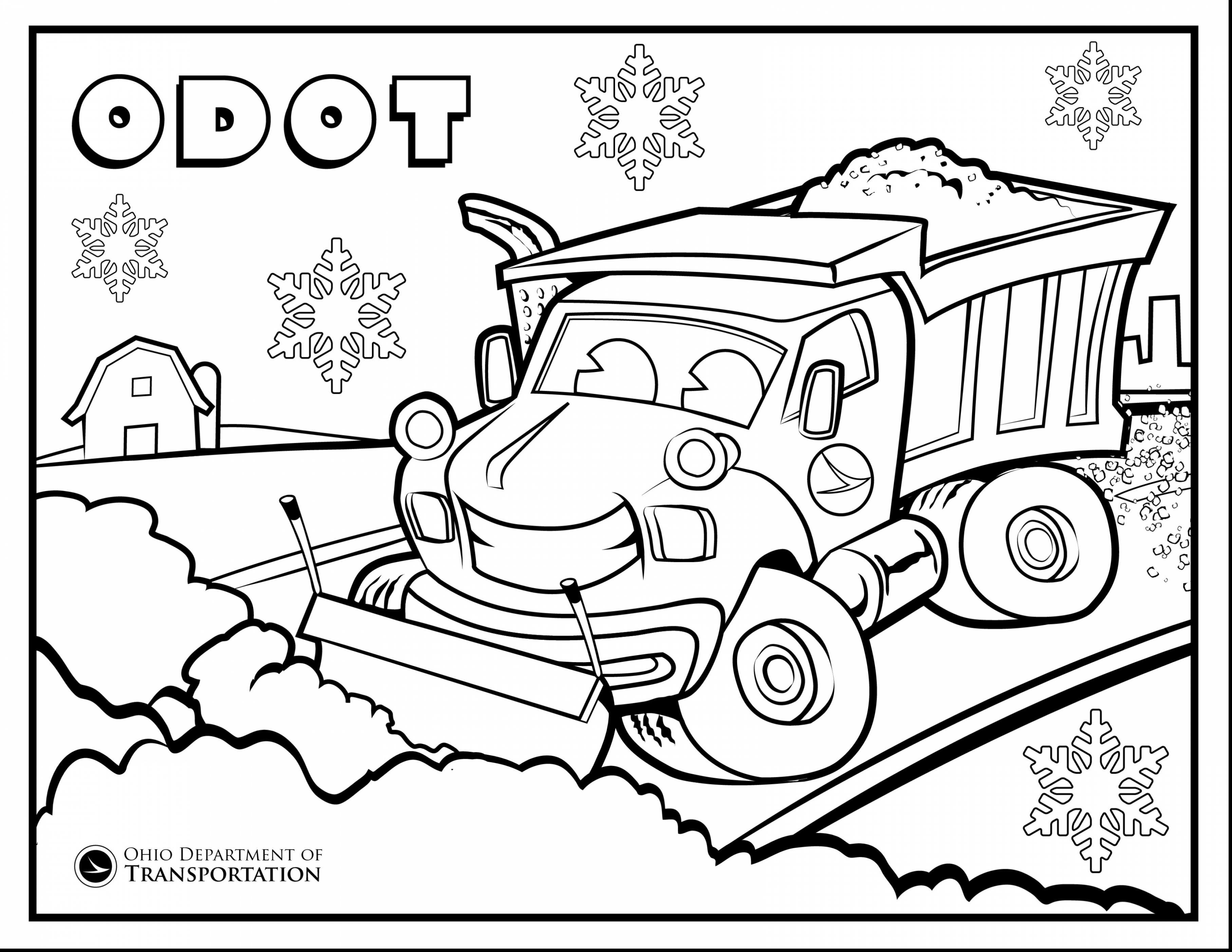 3630x2805 Plow Truck Coloring Pages