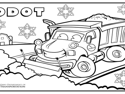 440x330 Plow Truck Coloring Pages Printables Coloring Pages, Snow Plow
