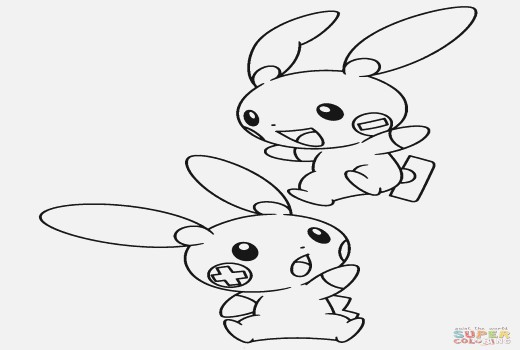 520x350 Plusle And Minun Coloring Pages