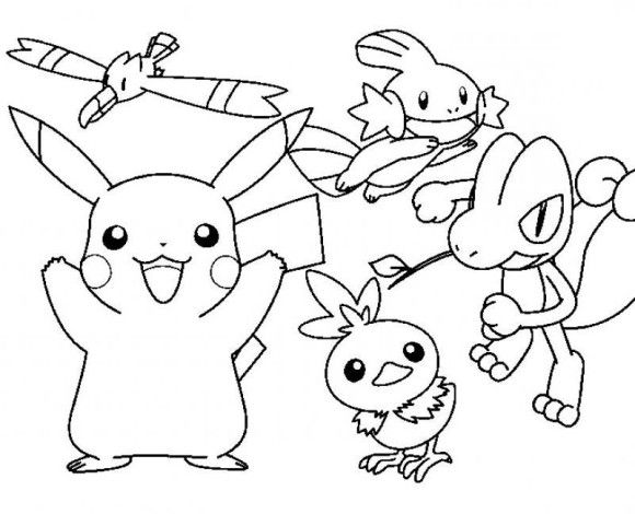 580x470 Pokemon Cartoon Pikachu Coloring Pages Cartoon Characters