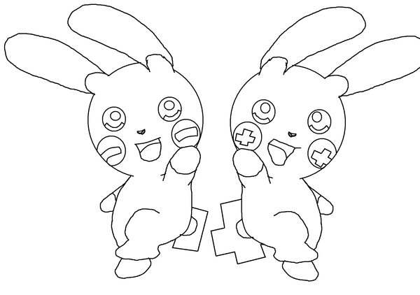 600x422 Minun And Plusle Base