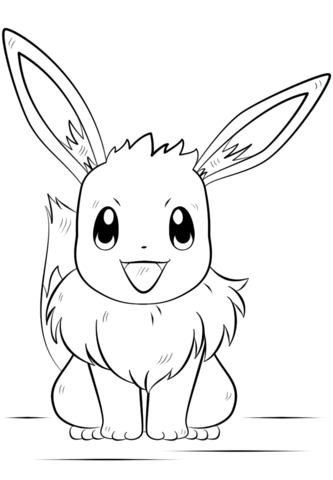 333x480 Eevee Coloring Page On Pages To Print