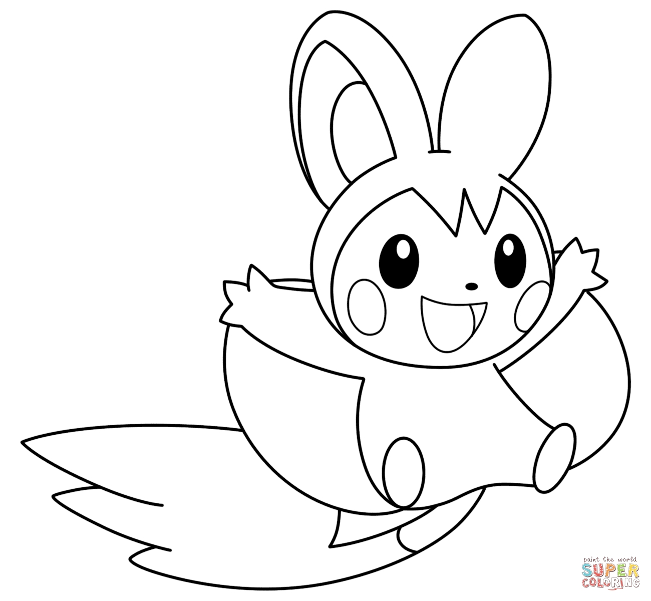 1300x1200 Emolga Coloring Pages Printable Coloring For Kids