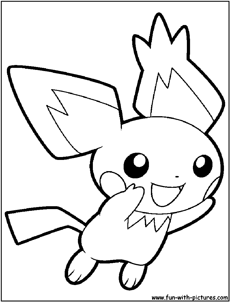 800x1050 Pichu Coloring Page