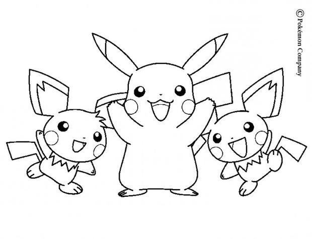620x475 Pikachu And Friends Coloring Pages