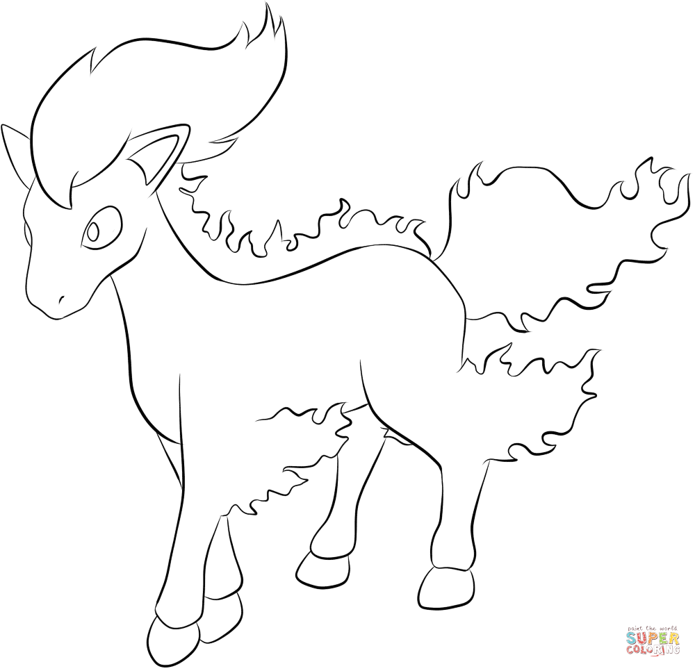 1000x966 Ponyta Coloring Page Free Printable Coloring Pages
