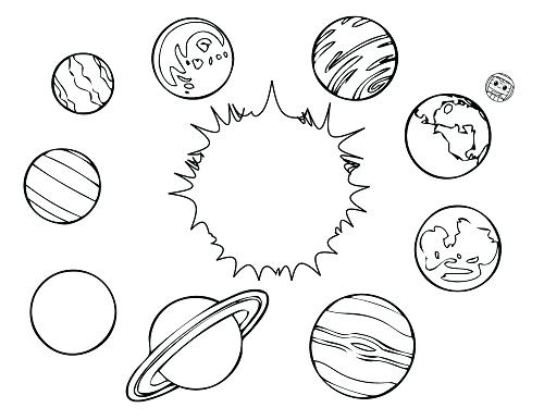 500x386 Planet Coloring Pages Planet Coloring Sheets Pluto Planet