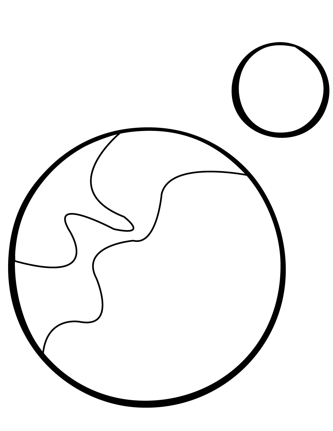 1275x1650 Pluto Coloring Page