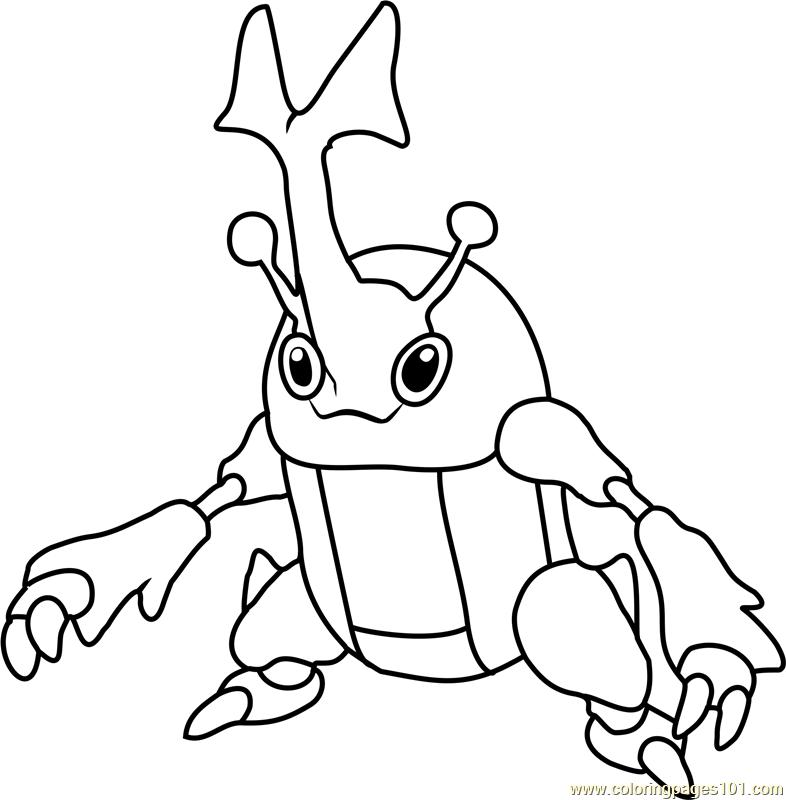 786x800 Heracross Pokemon Coloring Page