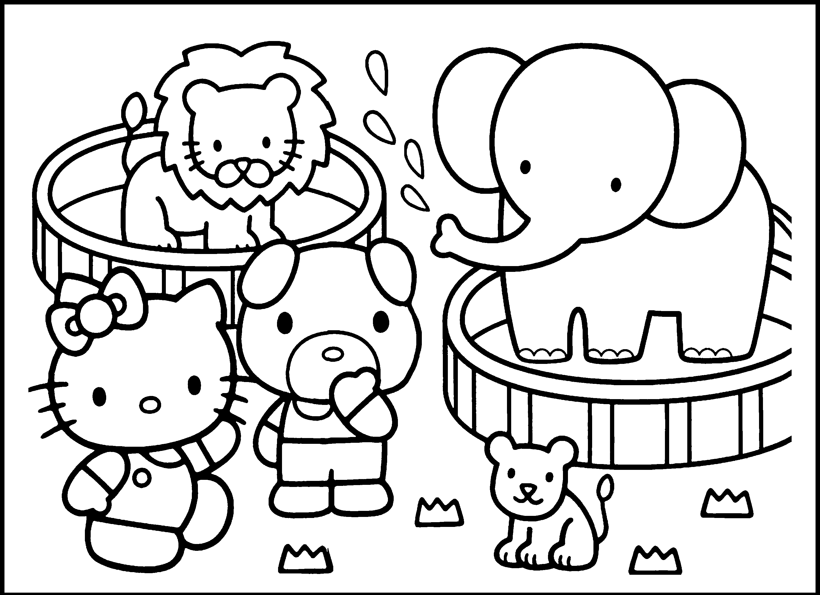 3120x2263 Coloring Pages Of Zoo Animals