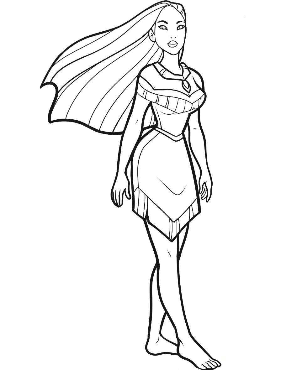Pocahontas Coloring Pages At Getdrawings Com Free For Personal Use