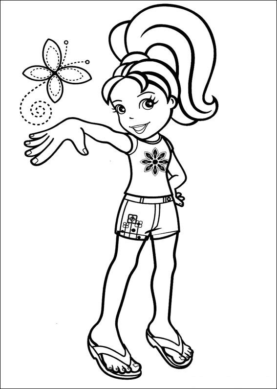 567x794 Pocket Coloring Page Kids N Fun Coloring Pages Of Polly Pocket