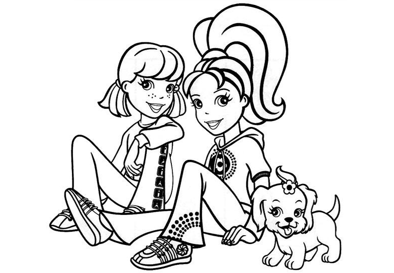 800x555 Worksheets Of Polly Pocket Characters For Kids