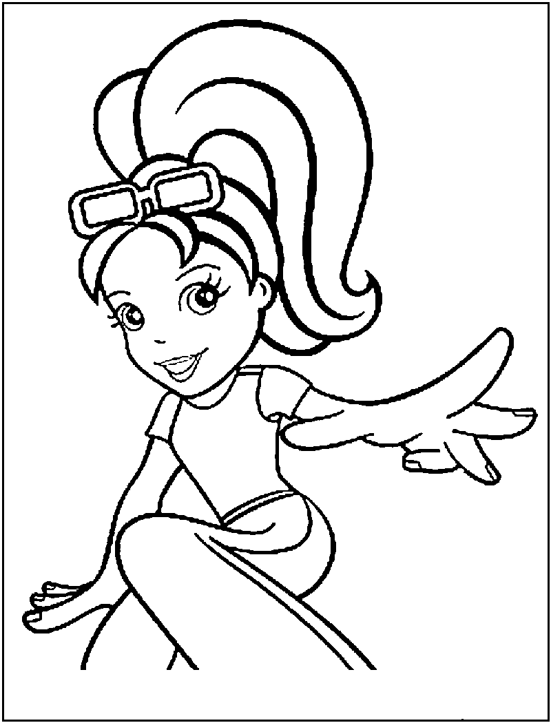 800x1050 Free Printable Polly Pocket Coloring Pages For Kids
