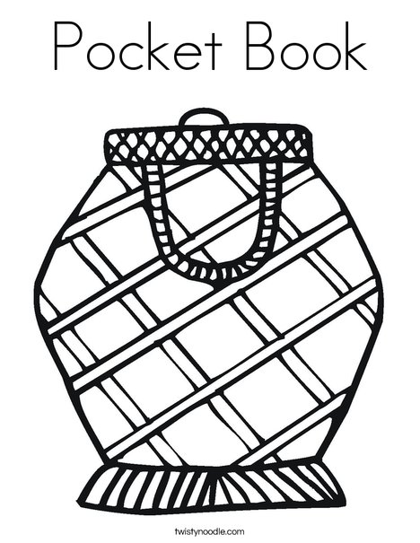 468x605 Pocket Book Coloring Page