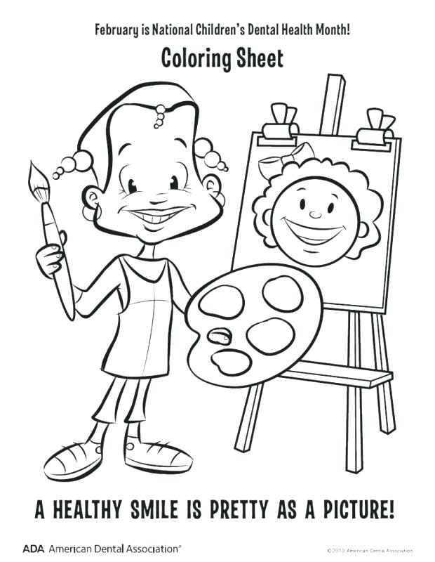 620x800 Month Coloring Pages Dental Health Coloring Pages Mom Blog