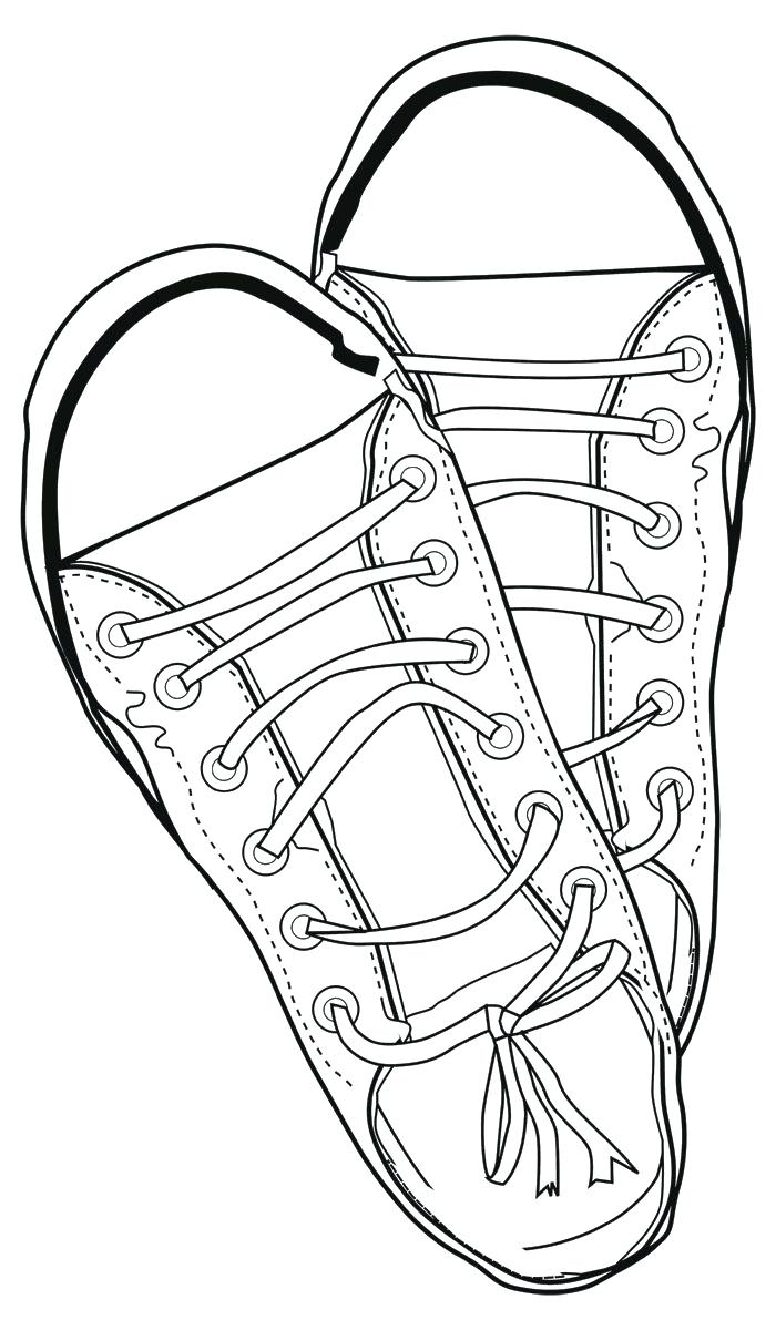 Pointe Shoe Coloring Page