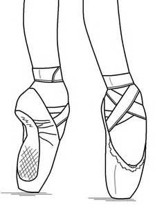 Pointe Shoe Coloring Page At Getdrawings Free Download
