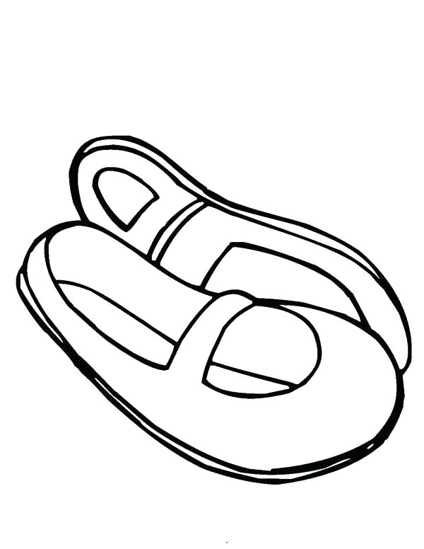 600x776 Pointe Shoes Coloring Pages References For Coloring Pages Ballet