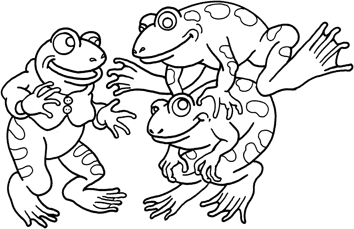 1500x973 Frog Coloring Pages