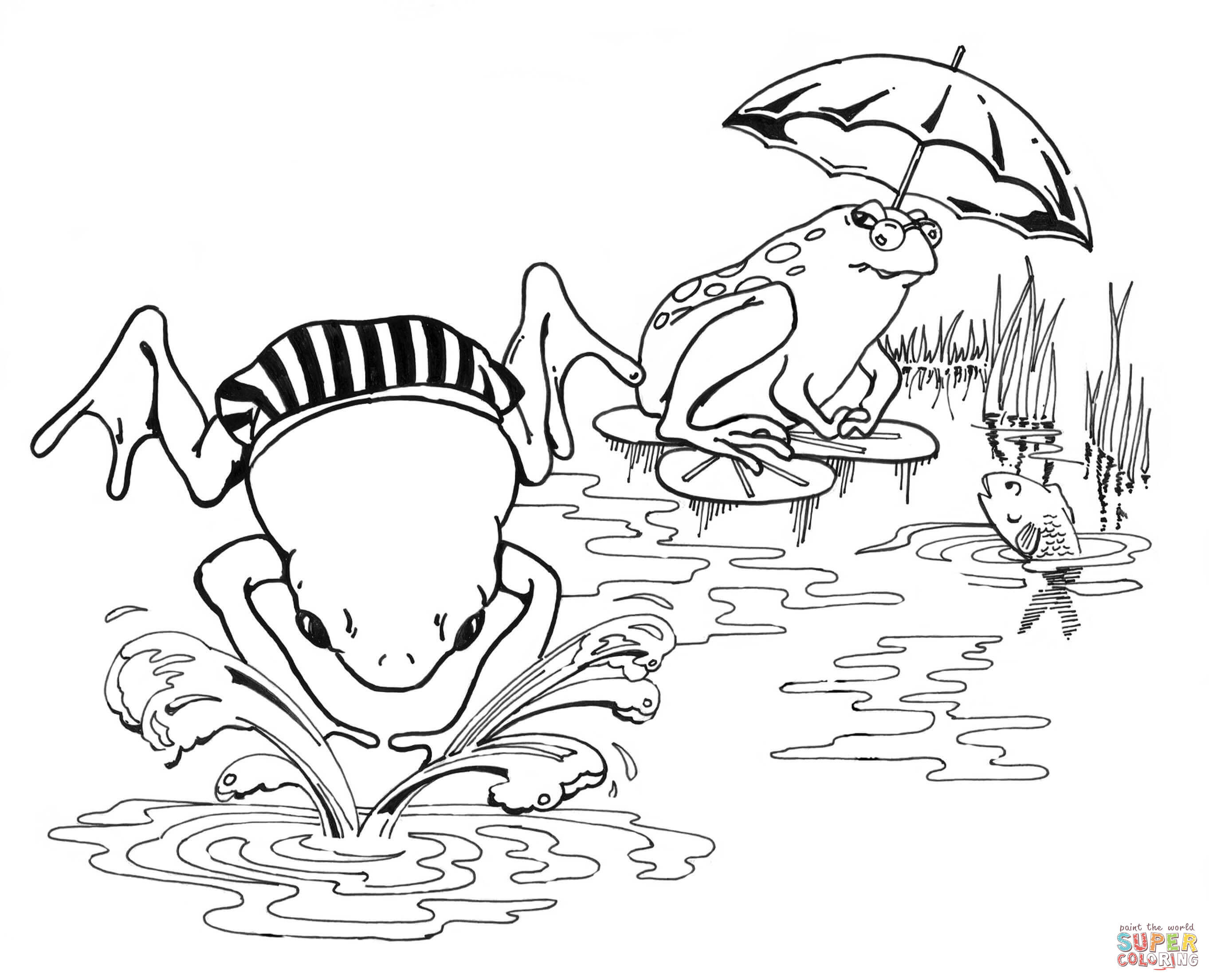 2726x2210 Frogs Coloring Pages Free Colouring Lively Poison Dart Frog