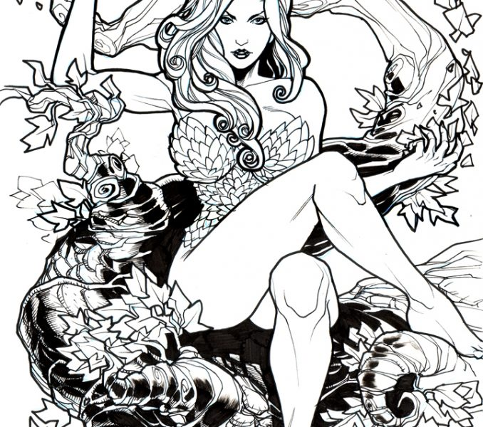 Poison Ivy Coloring Pages at GetDrawings | Free download