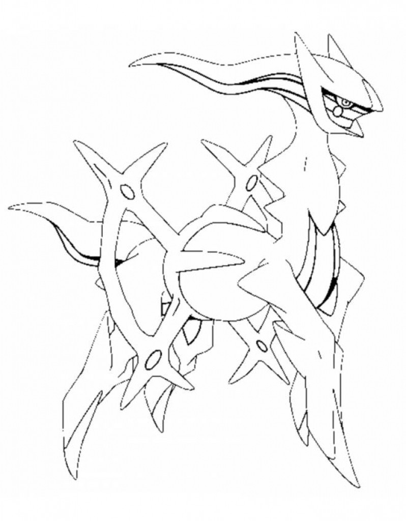 The best free Arceus coloring page images. Download from 32 free ...