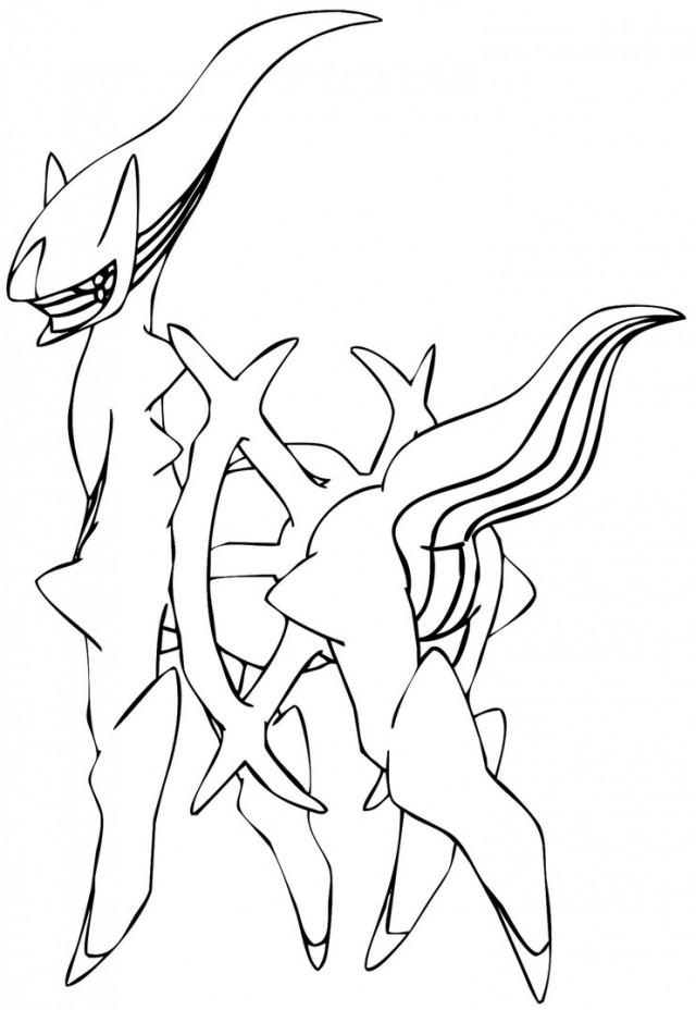 640x928 Arceus Legendary Pokemon Coloring Pages