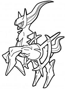 219x300 Arceus Pokemon Coloring Page Color Bros