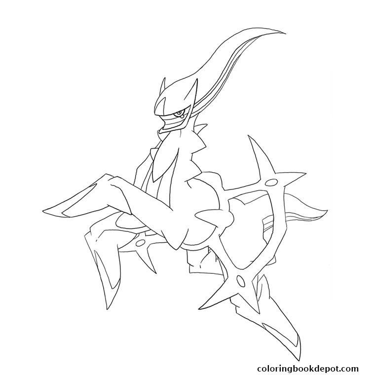 760x760 Pokemon Legendaire Arceus Coloring Pages
