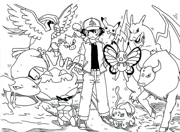 600x442 Ash Ketchum Coloring Pages Picture Of Ash On Coloring Page Ash