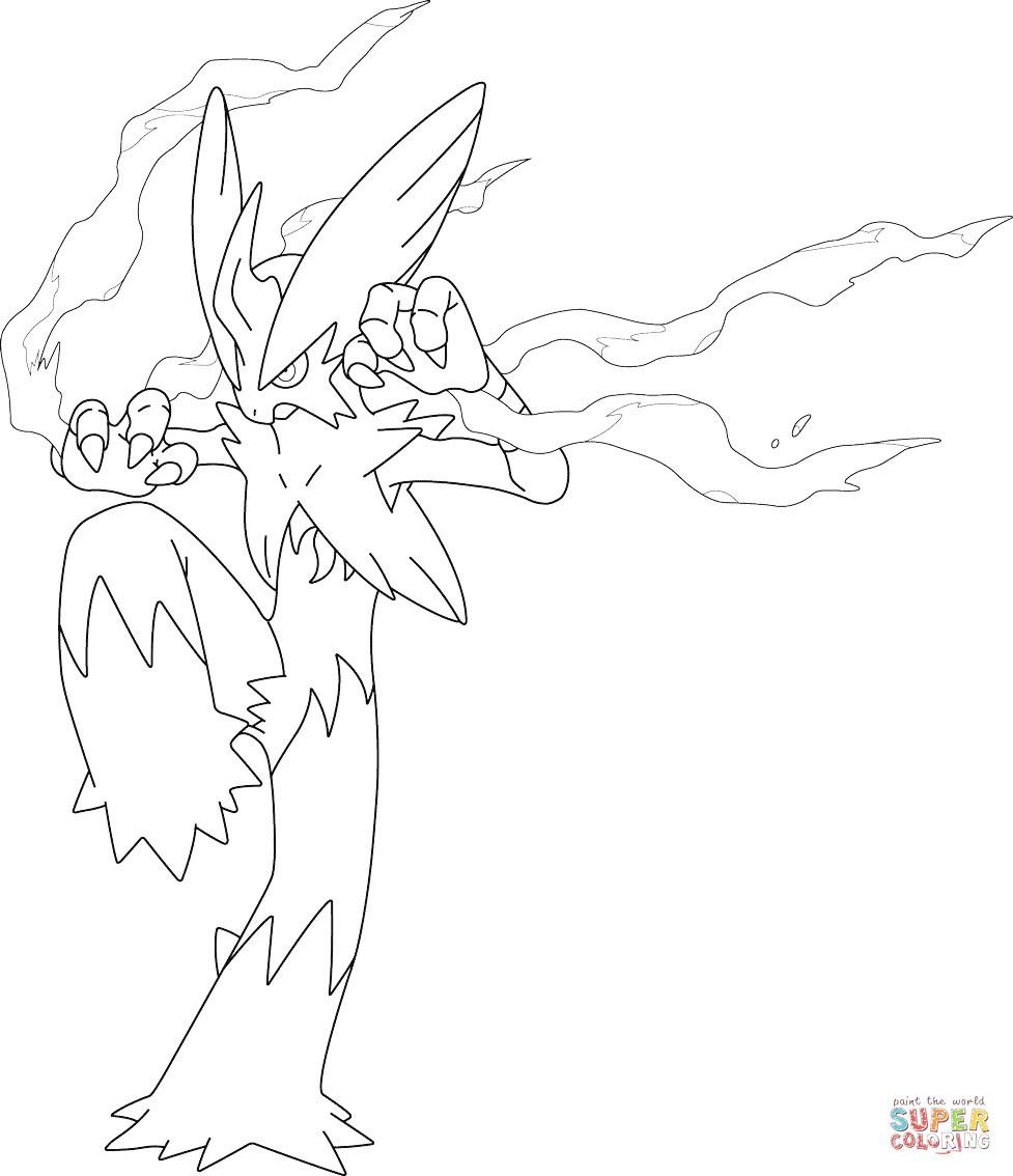 977x1134 Mega Blaziken Pokemon Coloring Page Free Printable Pages Beauteous