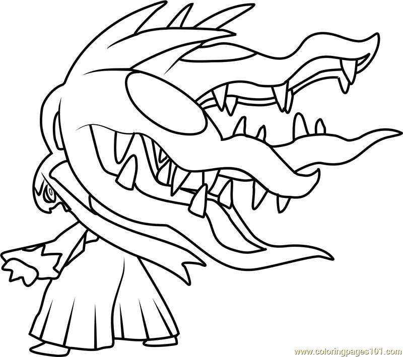 800x709 Mega Mawile Pokemon Coloring Page