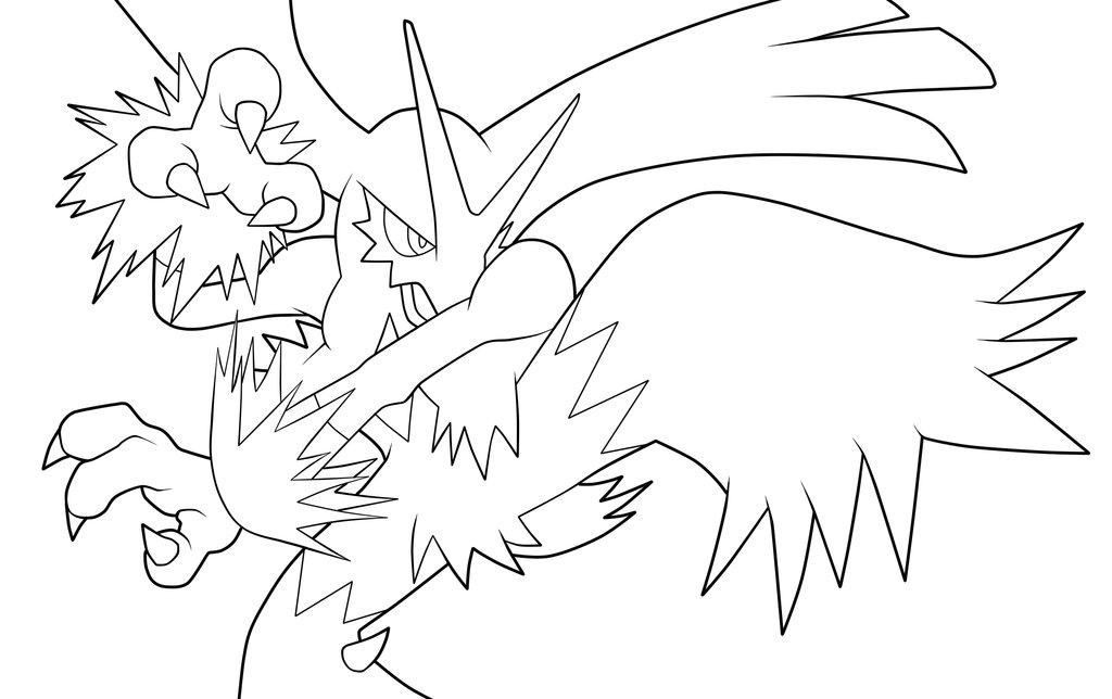 1024x644 Pokemon Coloring Pages Blaziken