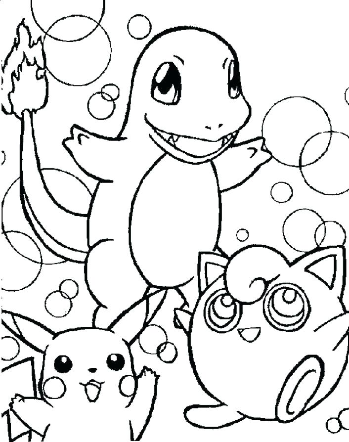 706x894 Coloring Pages For Pokemon Coloring Pages Free Download Coloring
