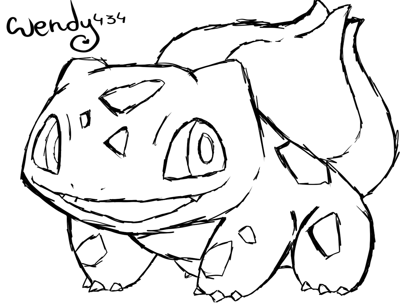 Pokemon Bulbasaur Coloring Pages At Getdrawings Com Free For
