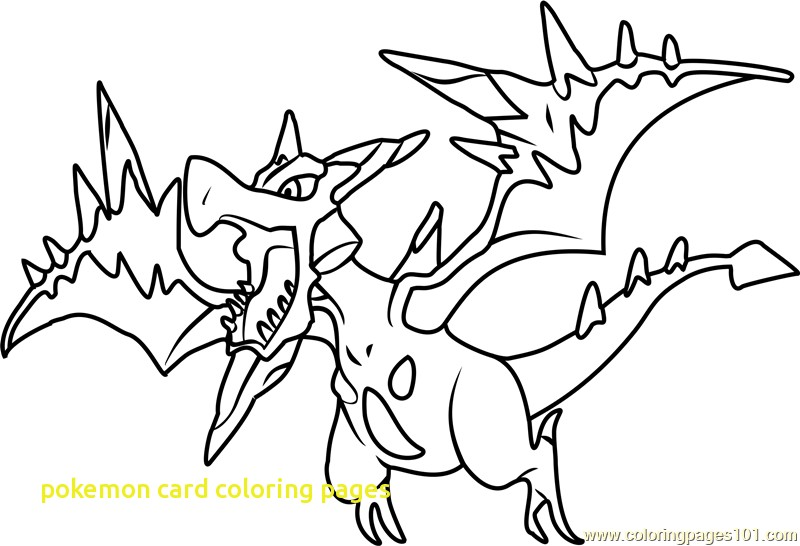 800x546 Pokemon Card Coloring Pages With Mega Aerodactyl Pokemon Coloring