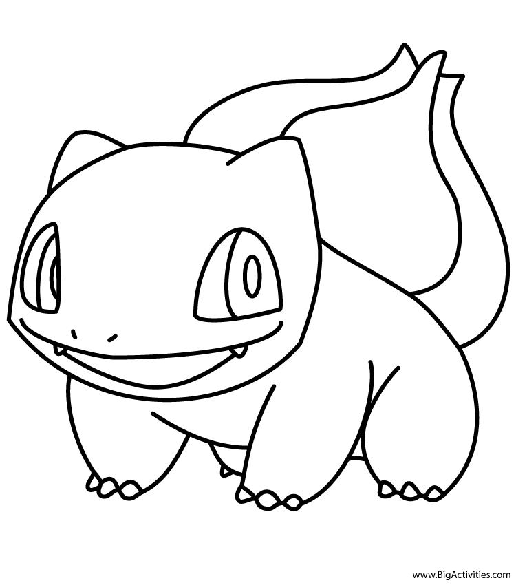 750x850 Pokemon Coloring Pages Bulbasaur