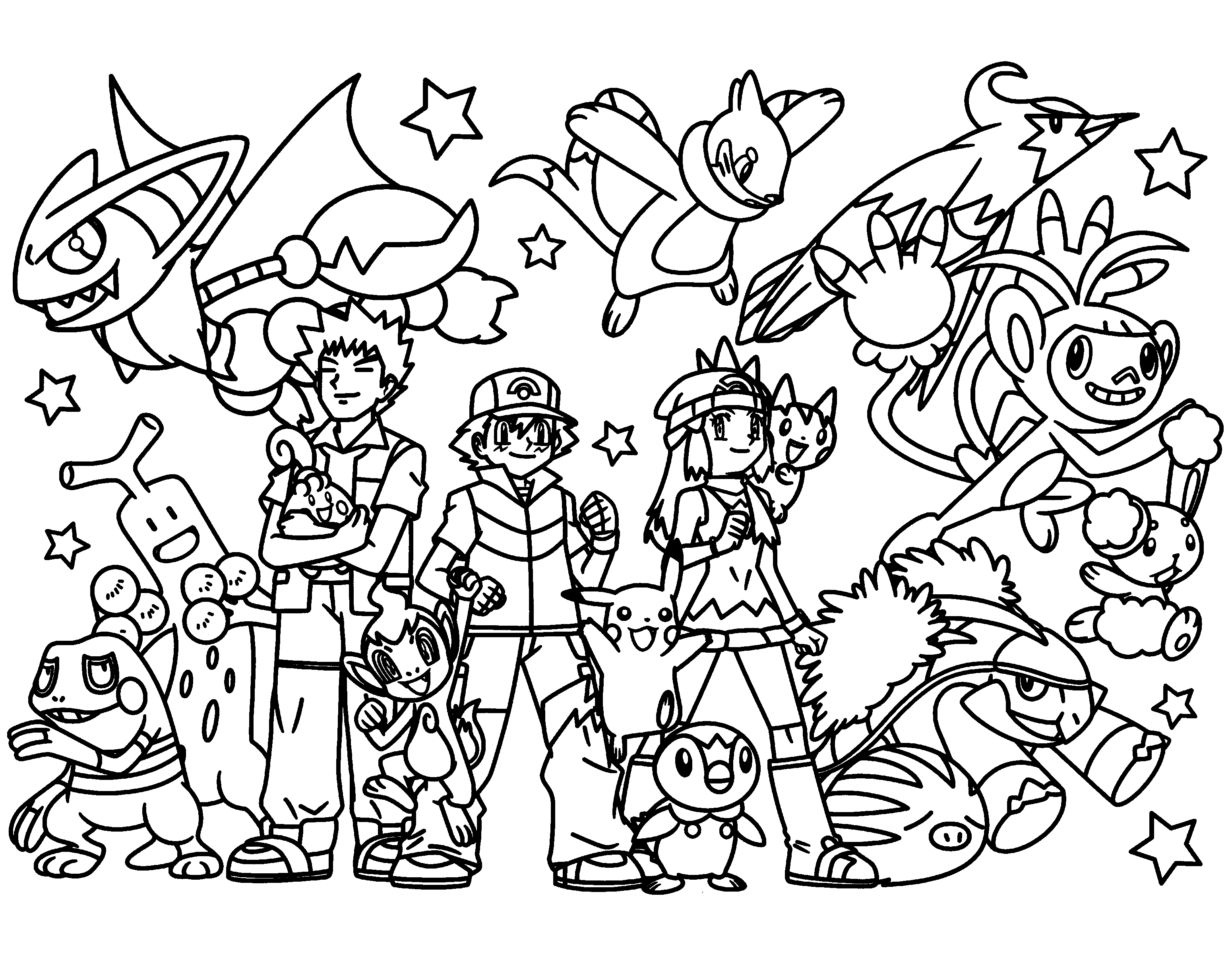 3100x2400 Pokemon Coloring Pages Join Your Favorite Pokemon On An Adventure!