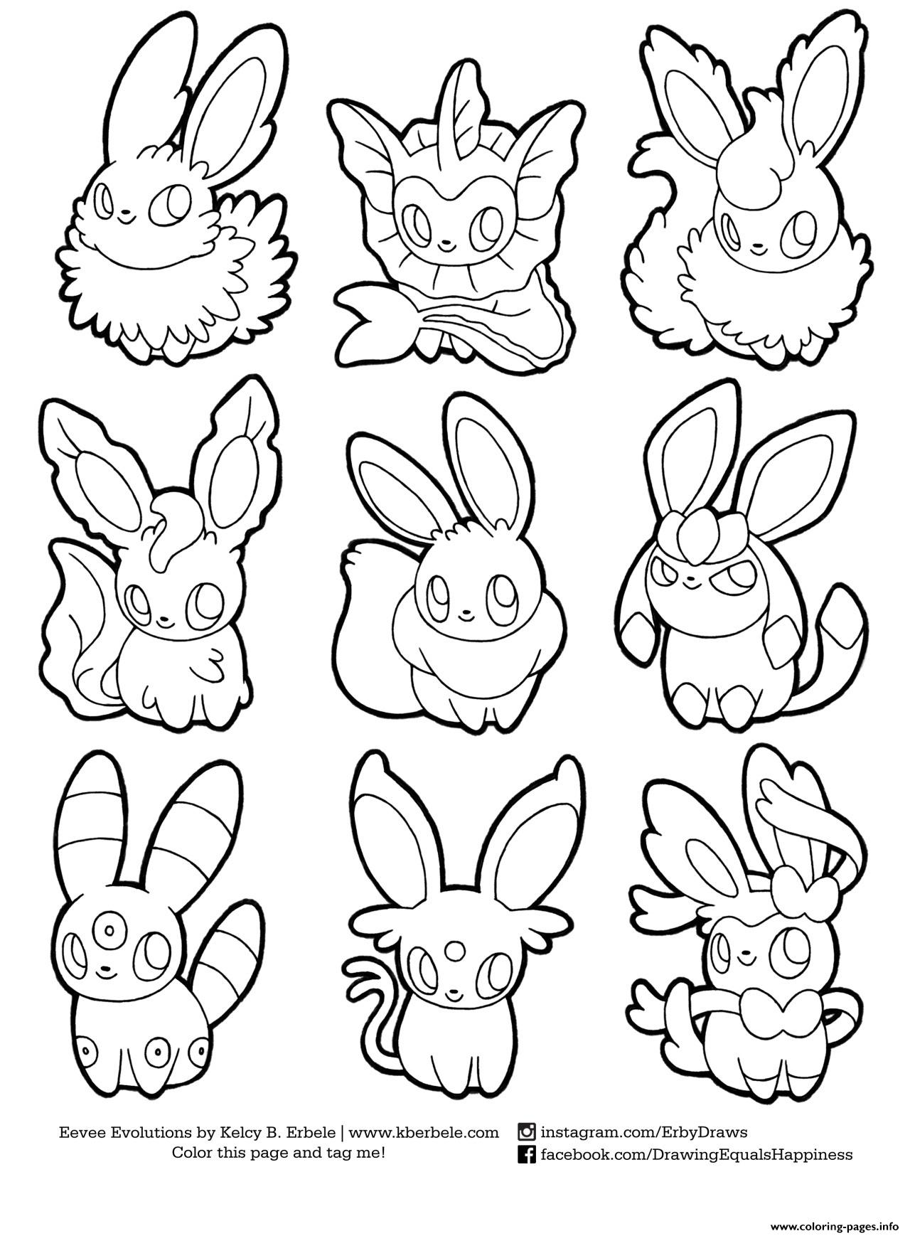 1280x1738 Pokemon Eevee Evolutions List Coloring Pages Printable