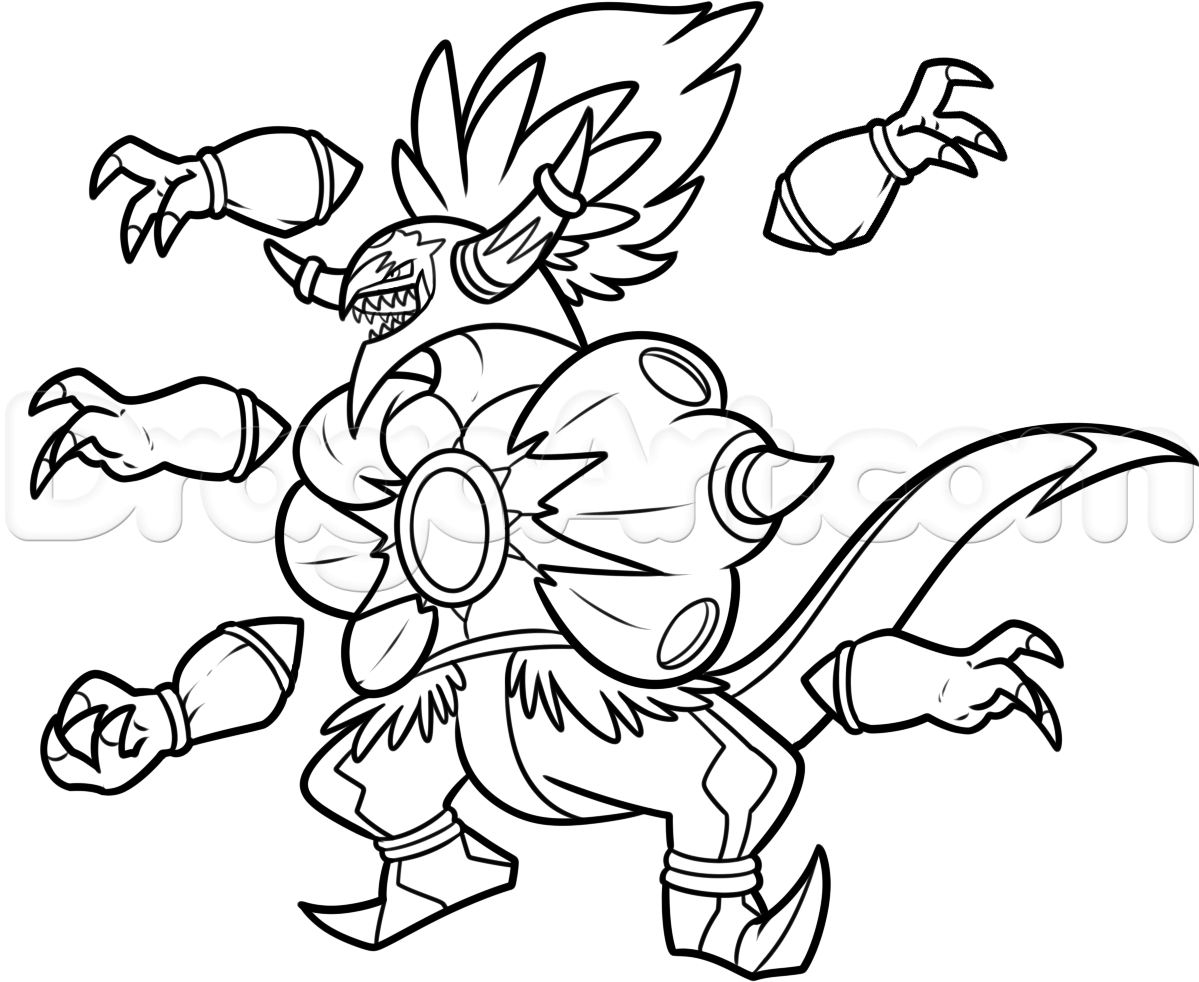 1199x982 Daring Alola Pokemon Coloring Pages Images Of Hoopa