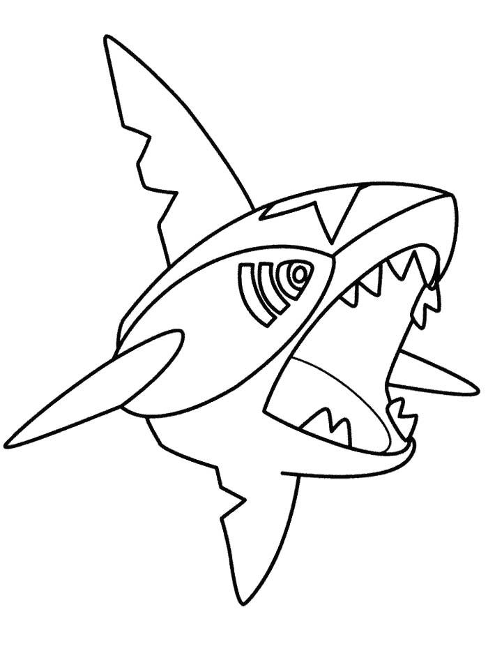 700x933 Sharpedo Pokemon Coloring Page Pokemon Para Colorear