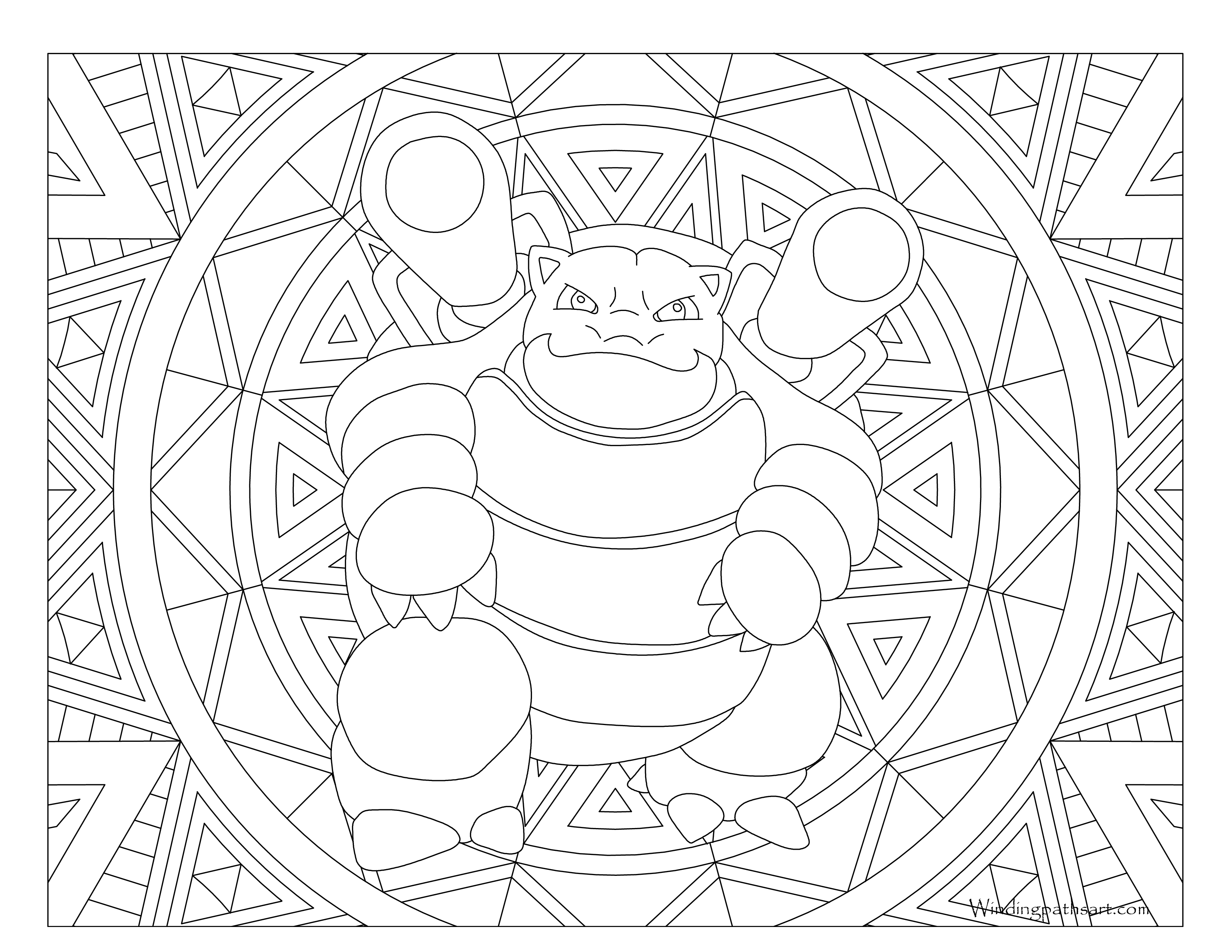 3300x2550 Free Blastoise Coloring Page Pokemon Pages