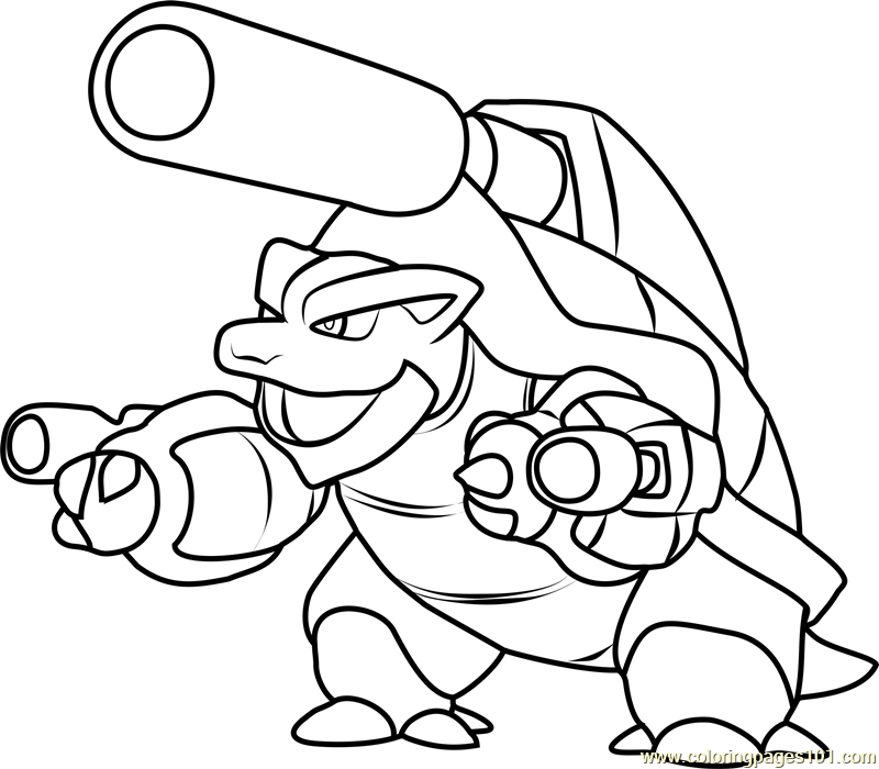 800x700 Pokemon Blastoise Coloring Page